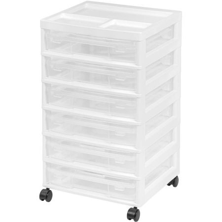 IRIS 6-Case Scrapbook Cart, White (Set of 2)