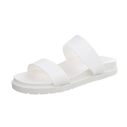 Mules Flat Design 8006 Women's White Ital T at Sandals zITBqwq