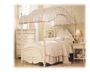 Amazing Lea Furniture Jessica McClintock Twin Canopy Bed Headboard/Footboard