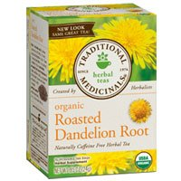 Traditional Medicinals Organic Roasted Dandelion Root Herbal Tea - 16 bags, 12 pack