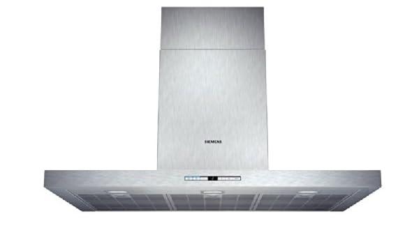 Siemens LC91BC552 - Campana (Canalizado/Recirculación, 980 m³/h, 410 m³/h, Montado en pared, LED, 897 Lux) Acero inoxidable: 446.6: Amazon.es: Grandes electrodomésticos