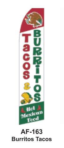 HPP 11-1/2' X 2-1/2' Brand New Advertising Tall Flag- Burrit