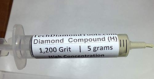 Diamond Lapidary Paste 1200 Grit 10-20 Micron - Pre-polish, Fine Lapping 5 Gram Syringe