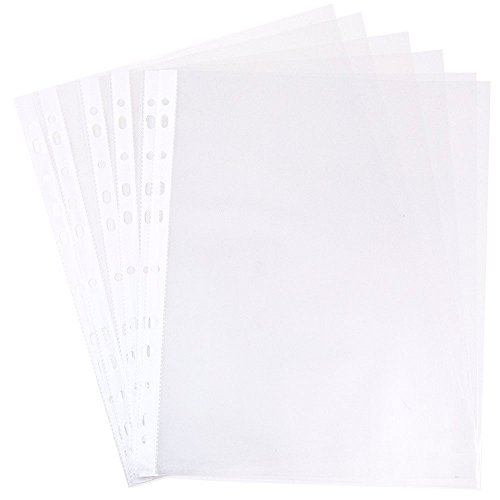 JAM PAPER Sheet Protectors - Fits Standard 8 1/2 x 11 Paper - Clear - 10 Document Sleeves/Pack