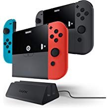 Dreamgear Backup Battery - Bionik Power Plate Duo - Multi-Function Portable Battery Banks and Joy Con Hand Grips for Nintendo Switch and Joy Con Controllers