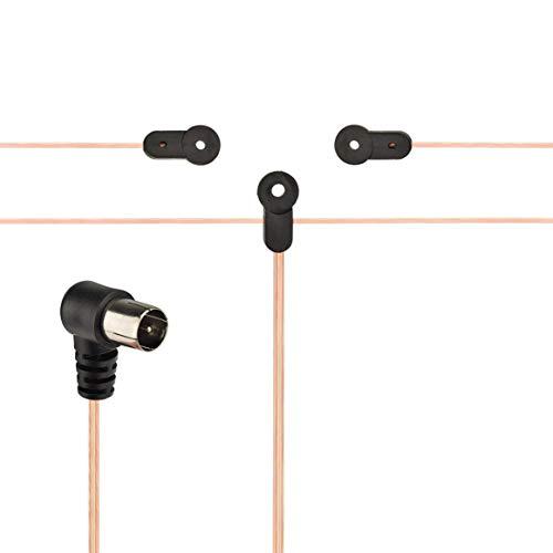 Bingfu 75 Ohm FM Dipole Antenna Compatible with Denon Pioneer Onkyo Yamaha Marantz Indoor FM Radio Music System Bluetooth Stereo Receiver AV Audio Vedio Home Theater Receiver Sound Power Amplifier