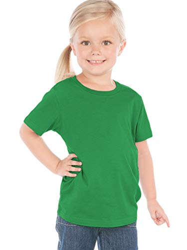 Shirt Girls Kellys Kids - Kavio! Toddlers Crew Neck Short Sleeve Tee Jersey (Same TJC0440) Kelly Green 5T