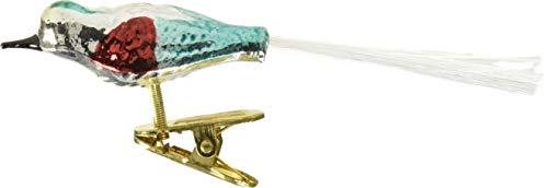 Kurt Adler Early Years Glass Clip-On Bird, 4.5-Inch, Set of (Clip On Bird Ornaments)