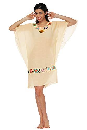 Vestido Chic Bohemia Pareo de Verano T Hippie playa Sarong Mujer rrapSq