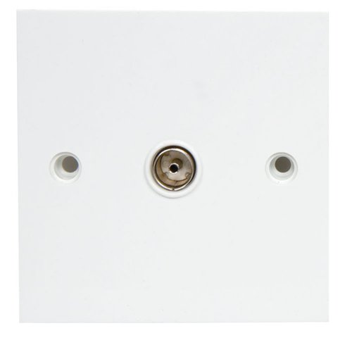Bulk Hardware BH02596 Television Co-Axial Single Wall Socket - White