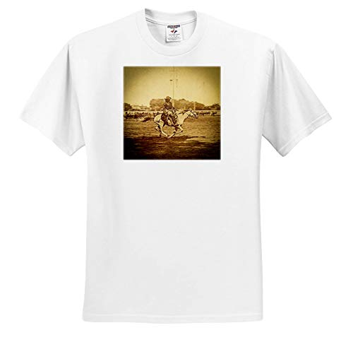 Scenes from The Past - Stereoview - 1886 Buffalo Bill Wild West Show William Cody Bucking Bronco Vintage - T-Shirts - White Infant Lap-Shoulder Tee (12M) (ts_300253_67)