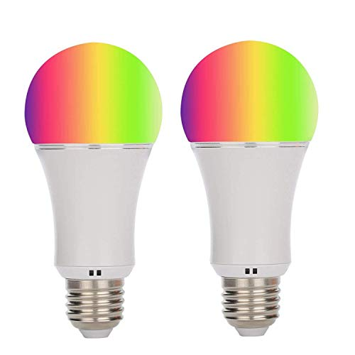 Akface WiFi Smart Light Bulb-Smartphone Remote Controlled Sunrise Wake Up Lights – Multicolored Color Changing A19 Light-Dimmable Sunset Sleeping Light.Compatible with Alexa Echo Dot,2 Pcs Review