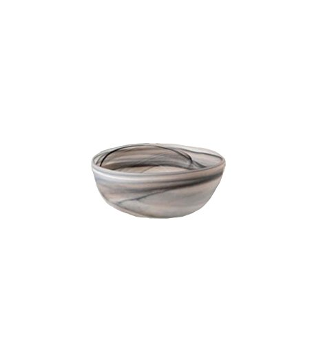 Shiraleah Small Taupe Frosted Alabaster Shallow Round Bowl
