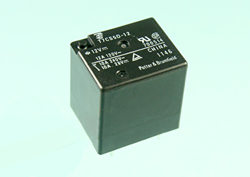1pc TE Connectivity, 12vdc Relay, SPDT, 10A 240vac, 12A 120vac, T7CS5D-12