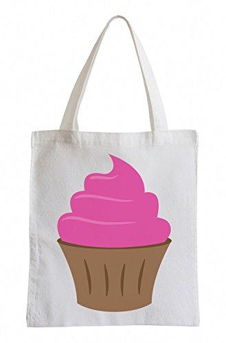 Raxxpurl rosa Cupcake Fun sacchetto di iuta