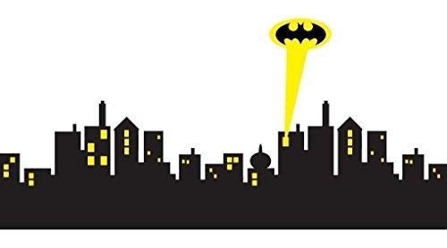 GOTHAM CITY SKYLINE Batman Decal WALL STICKER Home Decor Art Decal Super Hero -
