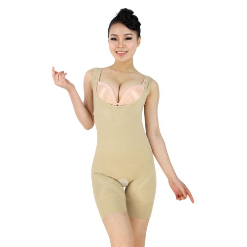 H:oter Anti Cellulite, Fat Burning, Slimming,H:oter Women's Easy Up Easy Down Camisole,Shapewear,Shaping Bodysuit - Nude