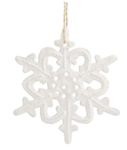 Heart of Haiti Metal Snowflake Ornament White (Snowflakes White Metal)