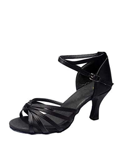 Ballo Tookang Ballo Donna Scarpe Latino Tacco heel Nero sala standard Da 7cm 01 qgqYwTS