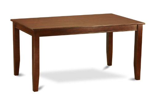 (East West Furniture DUT-MAH-T Rectangular Dining Table, 36-Inch by 60-Inch, Mahogany Finish)