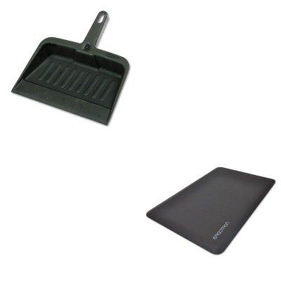 KITERG97620060RCP2005CHA - Value Kit - Ergotron Inc WorkFit Anti-Fatigue Floor Mat (ERG97620060) and Rubbermaid-Chrome Heavy Duty Dust Pan (RCP2005CHA) by Ergotron