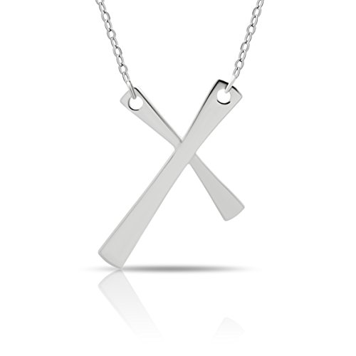 - 925 Sterling Silver Tiny Cross Necklace Silver Small Christian Pendant Necklace on Silver Rollo Chain 16 inch + 2 Extn w Clasp Dainty Necklace Tiny Cross Charm