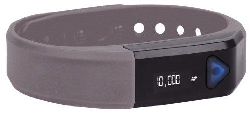 GNC Bluetooth Activity Band Pro Track Ultra Pedometer, White (Silver)