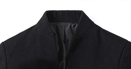 Long Men Jacket nero Aimee7 2 Button classico Slim Top Jacket Cappotto Trench Coat TxSxIdnR