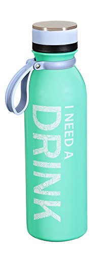 - Cypress Home I Need a Drink Stainless Steel Water Bottle, 20 Ounces