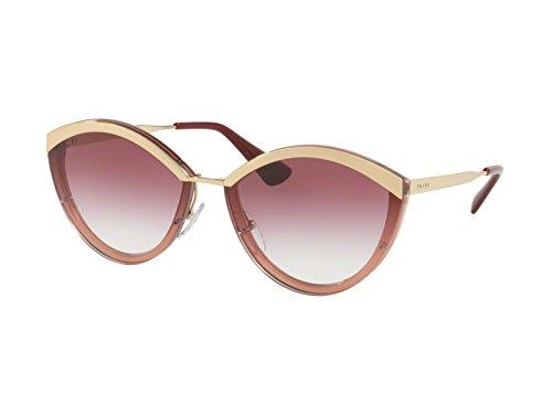 Prada PR07US 967094 Gold/Pink PR07US Oval Sunglasses Lens Category 2 Size 64m ()