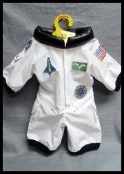 Teddy Bear Space Shuttle WHITE Astronaut Space Flight Suit Fit 14