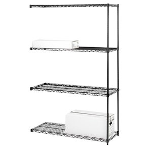 Review Lorell Add-On Wire Shelving Unit, 4 Shelves/2 Posts, 36 by By Lorell by Lorell