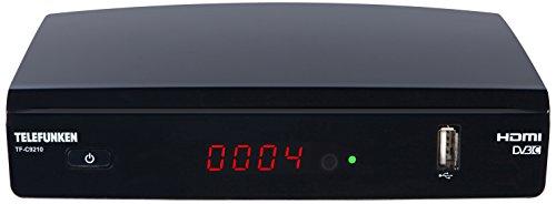 Telefunken TF-C9210 Full HD Kabel Receiver (DVB-C, HDTV, Media Player, EPG, HDMI, USB) schwarz