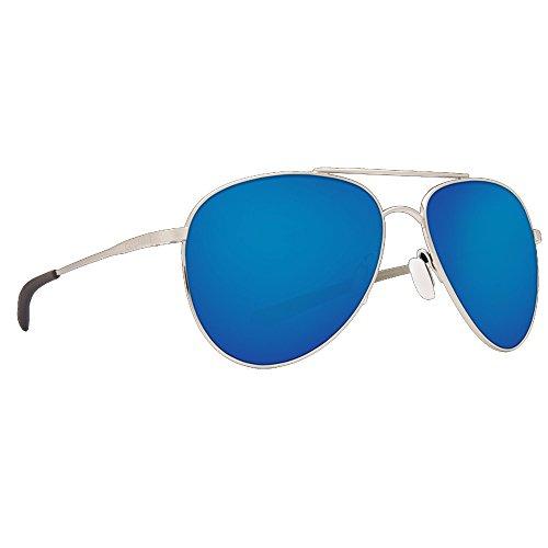 Costa Del Mar Cook Sunglasses Brushed Palladium/Blue Mirror - Hdo Sunglasses
