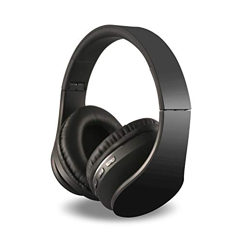 Alltrum Over-Ear Headphones,Hi-Fi Stereo Headset,Adjustable Headsets for Traveling/Sports/Relaxation,Foldable Headphones with Microphone and Music Playback for most of Smartphones,Black