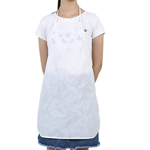 SiDia Kitchen Blank Apron Non-Woven Apron (Color : White)