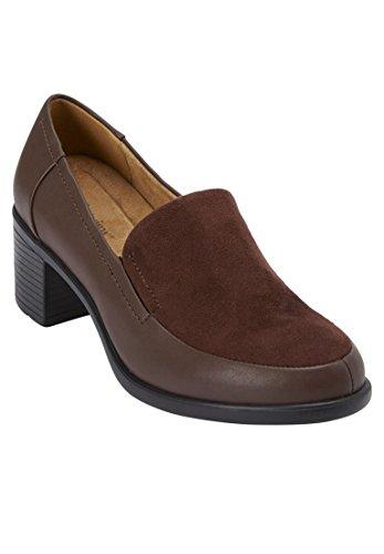 Donna Comfort Plus Size Gladys Slip-on Marrone
