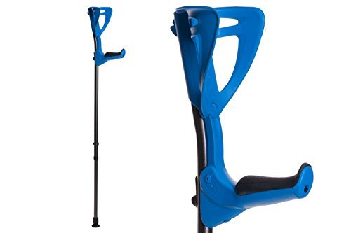 ErgoTech Lightweight Forearm Crutches By FDI (Size: 4'4-6'7) 1 Pair/2 Crutches Blue ()