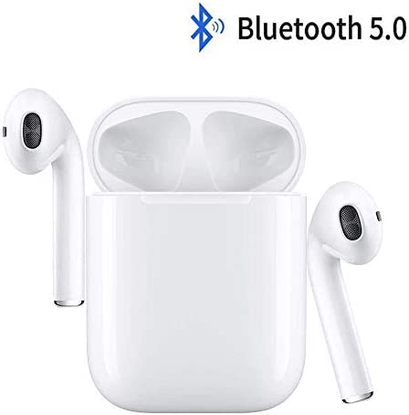 Wireless Earbuds,Bluetooth Headphones Mini in-Ear Headsets Sports Earphone with True Wireless Earbuds and Built-in Charging case Compatible with Airpods Android iPhone White