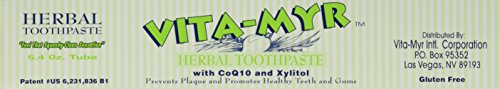 All Natural Whitening Coq10 Tooth (VITA-MYR Zinc-Plus Xtra Herbal Natural Toothpaste with CoQ10 and Xylitol 5.4)