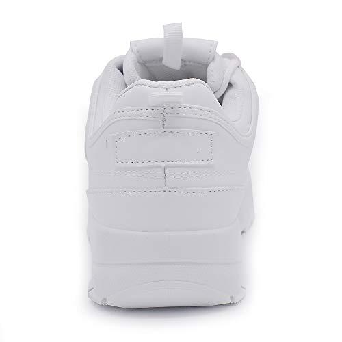 Scarpe Ginnastica Sportive Platform Para Bianco Donna 85 Lacci Stringate 352 Sneakers Casual 4qr4a