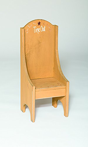 Rustic Primitive Country Time Out Children's Chair Amish Made in USA-Golden Oak