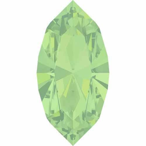 4228 Swarovski Fancy Stones Xilion Navette 4X2mm | Chrysolite Opal | 4x2mm - Pack of 10 | Small & Wholesale (Chrysolite Pack)