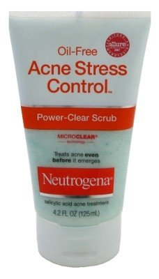 Neutrogena Acne Stress Control Power Clear Scrub 4.2 oz. (Pack of 6)