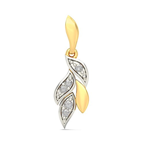 Or jaune 18 K 0.16 CT TW White-diamond (IJ | SI) Pendants d'oreilles