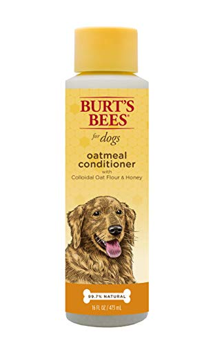 Burt's Bees for Dogs Natural Oatmeal Conditioner with Colloidal Oat Flour and Honey | Puppy and Dog Shampoo, 10 ()