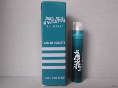 Jean Paul Gaultier Le Male Sample-Vials For Men, 0.02 oz EDT *Lot Of 2* *Free Name Brand Sample-Vials With Every Order*