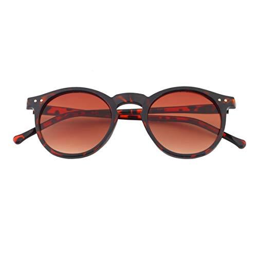 Marco Unisex plástico Hombres Delicacydex Vintage Lente de Lente Gafas Sol de Retro de Gafas Lente Sol Espejo Mujeres Redonda BZ017 Gafas de Colores USYSqFw