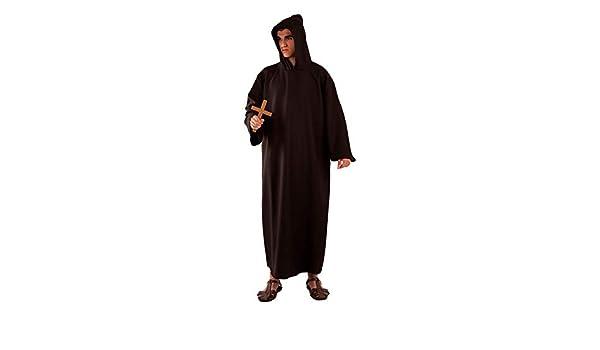 DISBACANAL Disfraz fraile Adulto - Negro, XXXL: Amazon.es ...