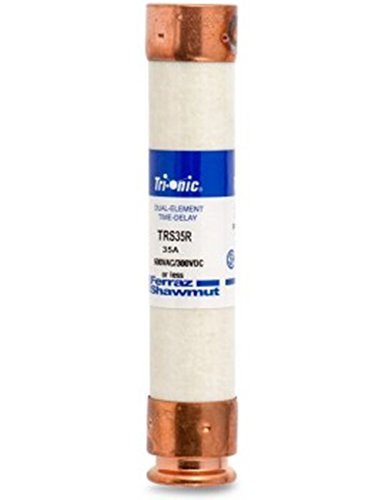 Ferraz 600 Volt Fuses - Ferraz Shamwut/Mersen TRS-35R, 35A 600V Dual Element Time-Delay Current Limiting Class RK5 Fuse